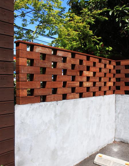 ウリンのブロック型フェンス