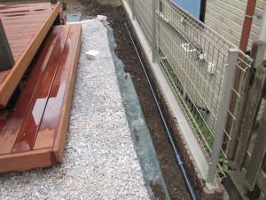 お庭部分まで管を延長