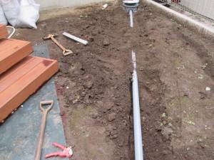 水道管の延長工事
