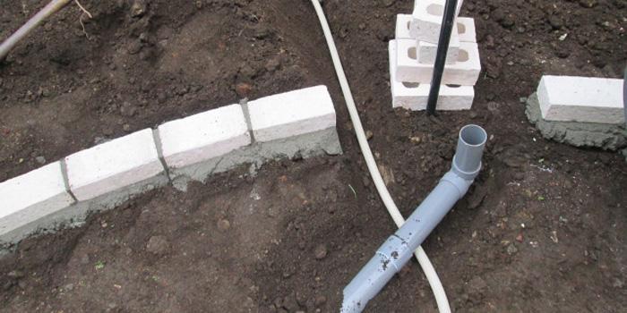 立水栓の水道管延長工事