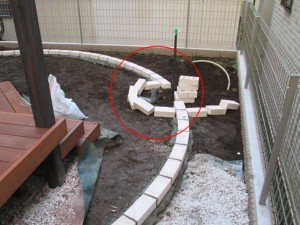 立水栓の管延長工事