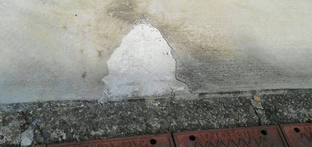 コンクリート割れ
