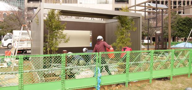 全国都市緑化よこはまフェア施工4日目
