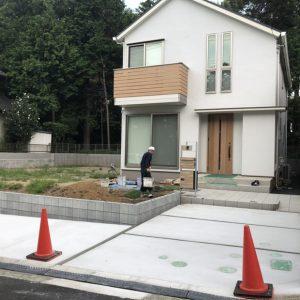コンクリート土間打ち後